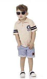 Camiseta Polo Bebê Menino Bulldog