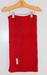 Manta Colméia Vermelha 80x80cm