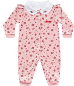 Macacão Bebê Menina Algodão Roses Kiko Baby