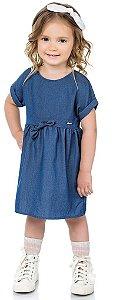 Vestido Infantil Jeans Denim Kiko e Kika