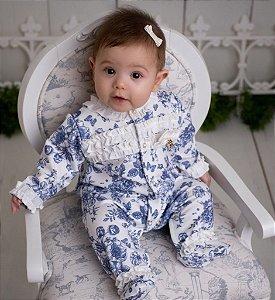 Macacão Bebê Provence Sofisticado Moletinho Pinoti Baby