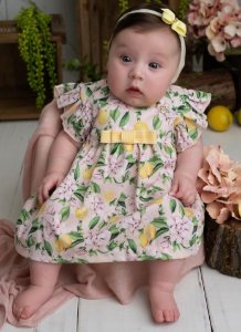 Vestido Bebê Festa Sofisticado Siciliano Pinoti Baby