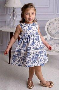 Vestido Bebê Infantil Festa Provence Laço Gorgurão Pinoti Baby