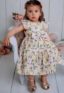 Vestido Bebê Infantil Sofisticado Pregas Siciliano Pinoti Baby