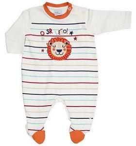 Macacão Bebê Sr. Leãozinho Suedine Baby Fashion