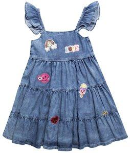 Vestido Infantil Jeans Path Summer Anuska