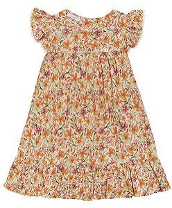 Vestido Infantil Viscose Flowers Summer Anuska