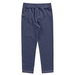 Calça Legging Molecotton Infantil Menina Jeans Escuro Kiko