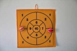 Brinquedo Educativo Alvo Número Amarelo