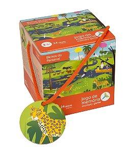 Brinquedo Educativo Bichos do Pantanal Jogo da Memória 24 peças
