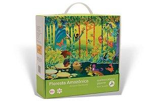 Brinquedo Educativo Quebra Cabeça Floresta Amazônica 48 peças