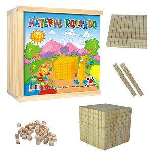 Brinquedo Pedagógico Material Dourado 611 peças