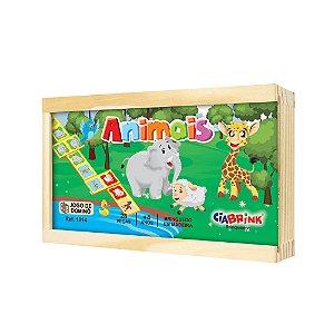 Brinquedo Educativo Dominó Animais