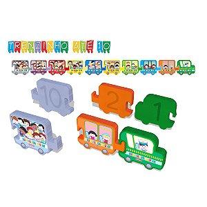 Brinquedo Educativo Trenzinho até 10 Carimbrás