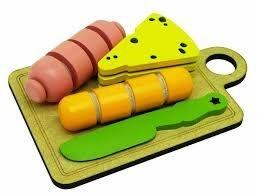 Brinquedo Educativo Kit Frios em madeira e velcro