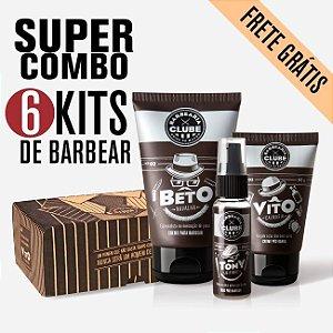 SUPER COMBO com 6 CAIXAS do Kit de produtos para o barbear | O Poderoso Trio