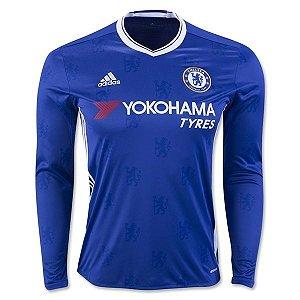 Camisa oficial Adidas Chelsea 2016 2017 I jogador manga comprida