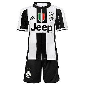 Kit infantil oficial Adidas Juventus 2016 2017 I jogador