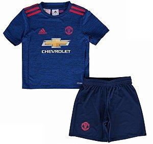 Kit infantil oficial adidas Manchester United 2016 2017 II jogador