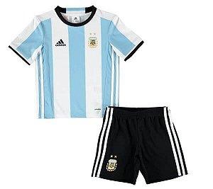Kit infantil oficial adidas seleção da argentina 2016 I jogador Copa América