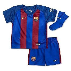 Kit oficial infantil Nike Barcelona 2016 2017 I jogador