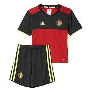 Kit infantil oficial adidas seleção da Belgica Euro 2016 I jogador