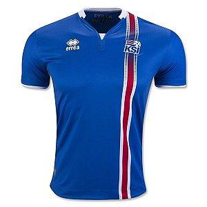 Camisa oficial Errea seleção da Islandia Euro 2016 I jogador