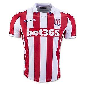 Camisa oficial Macron Stoke City 2016 2017 I jogador
