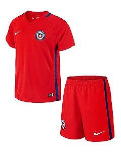 Kit oficial infantil Nike seleção do Chile 2016 I jogador