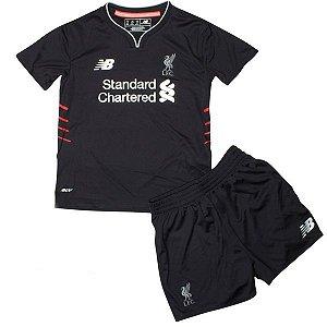 Kit infantil oficial New Balance Liverpool  2016 2017 II jogador