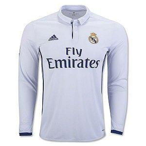 Camisa oficial Adidas Real Madrid 2016 2017 I jogador manga comprida