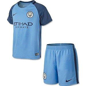 Kit oficial infantil Nike Manchester City 2016 2017 I jogador