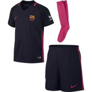 Kit oficial infantil Nike Barcelona 2016 2017 II jogador