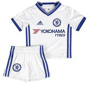 Kit infantil oficial adidas Chelsea 2016 2017 III jogador