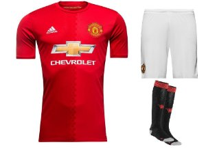 Kit adulto oficial adidas Manchester United 2016 2017 I jogador