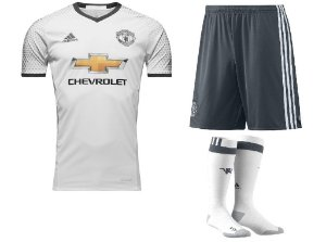 Kit adulto oficial adidas Manchester United 2016 2017 III jogador