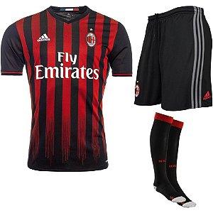 Kit adulto oficial adidas Milan 2016 2017 I jogador