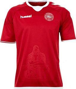 Camisa oficial Hummel seleção da Dinamarca 2016 2017 I jogador