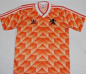Camisa Adidas retro Seleção da Holanda Euro 1988