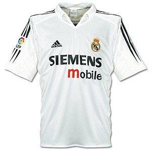 Camisa retro Adidas Real Madrid 2002 2003 I jogador