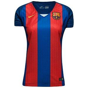 Camisa feminina oficial Nike Barcelona 2016 2017 I