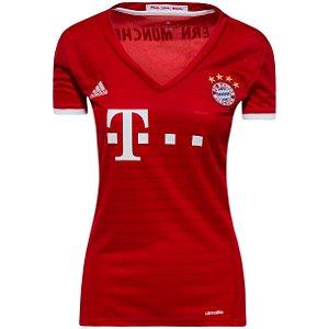 Camisa Feminina oficial Adidas Bayern de Munique 2016 2017 I