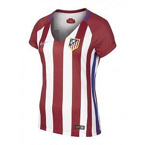 Camisa feminina oficial Nike Atletico de Madrid 2016 2017 I