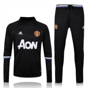 Kit treinamento oficial Adidas Manchester United 2016 2017 preto
