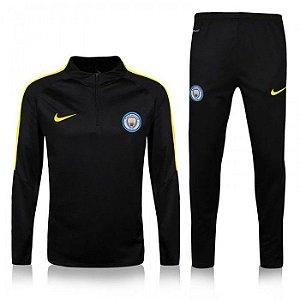 Kit treinamento oficial Nike Manchester City 2016 2017 preta