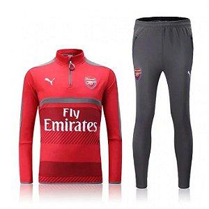 kit oficial treinamento Puma Arsenal 2016 2017 Vermelho