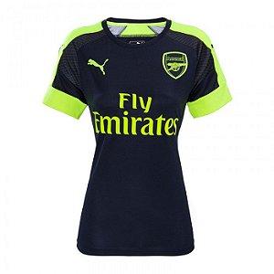 Camisa feminina oficial Puma Arsenal 2016 2017 III