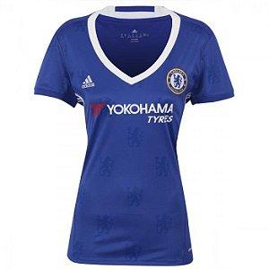 Camisa Feminina oficial Adidas Chelsea 2016 2017 I