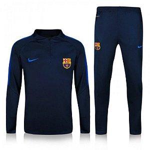 Kit treinamento oficial Nike Barcelona 2016 2017 Azul