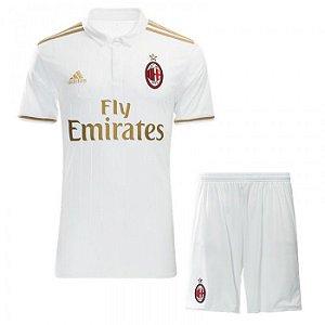 Kit oficial infantil Adidas Milan 2016 2017 II jogador